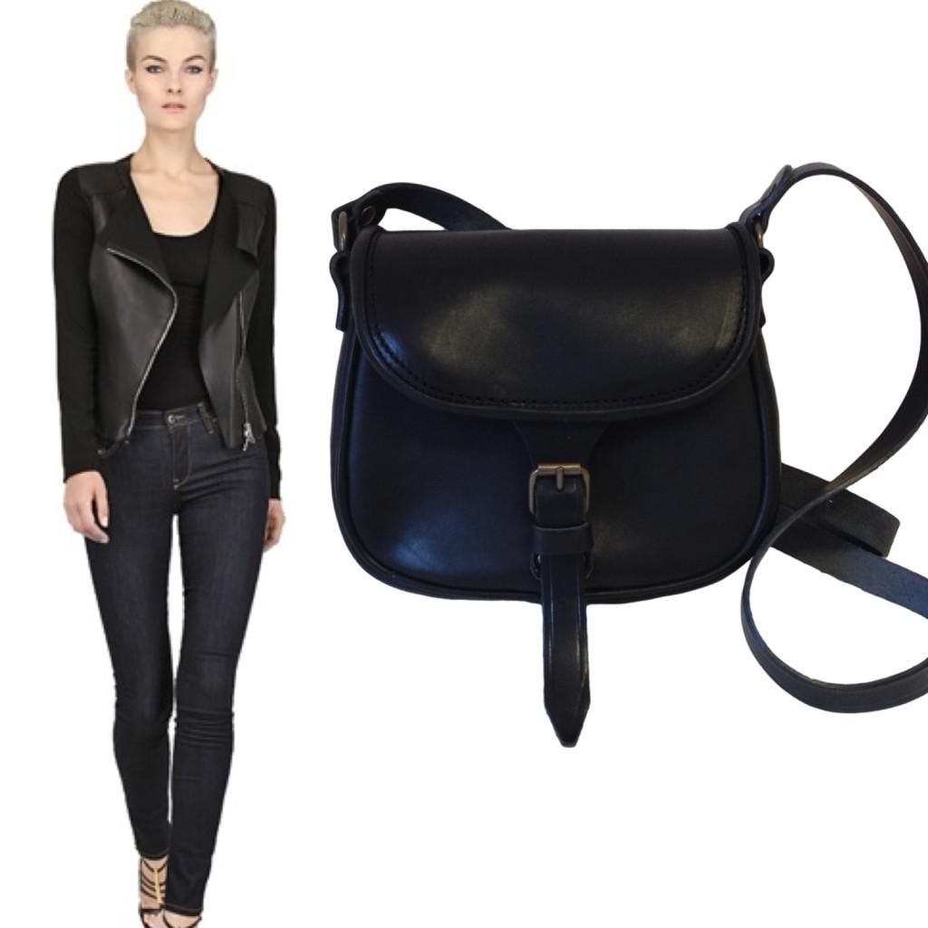 la tolfetana borse in pelle nera shop online