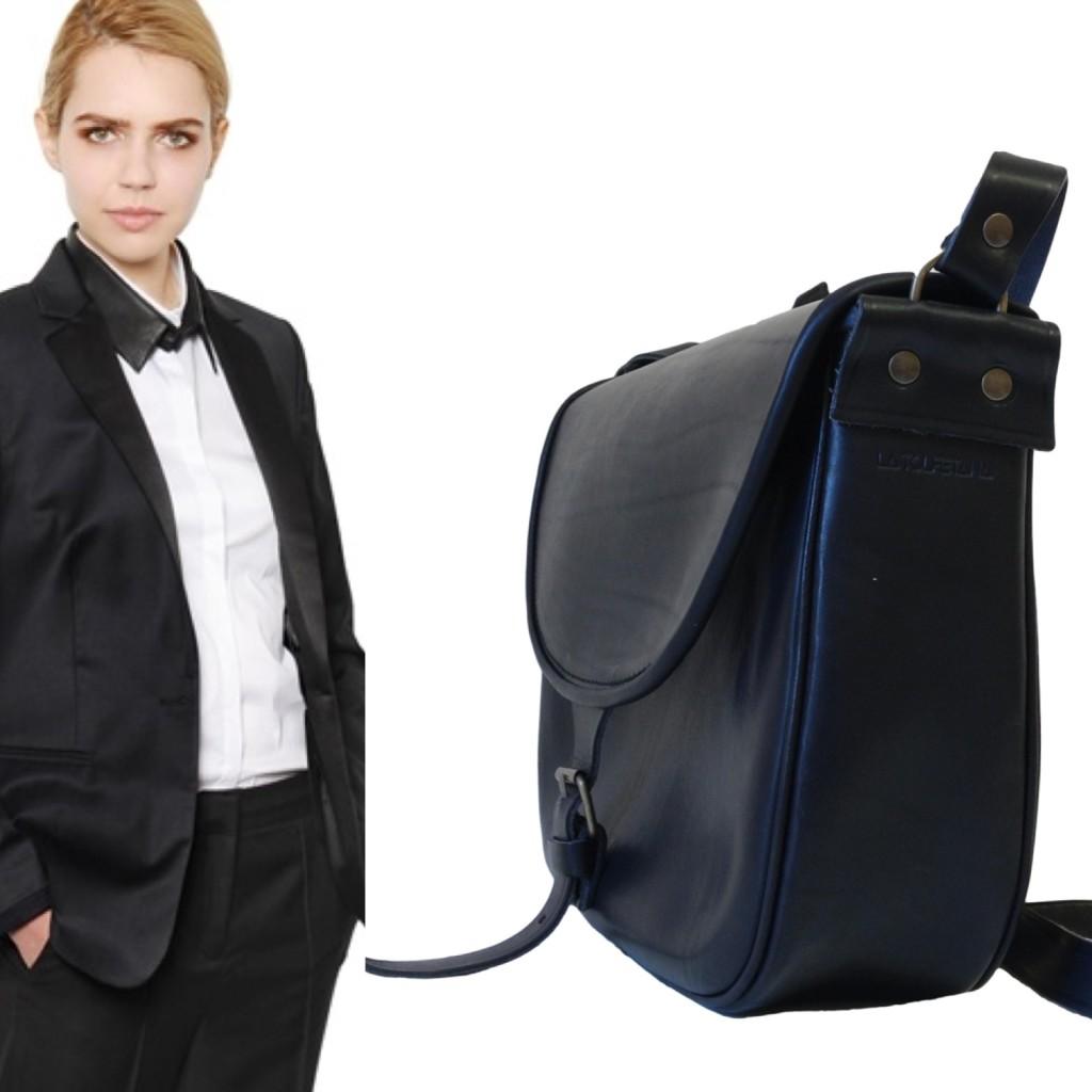 la tolfetana borse in pelle nera