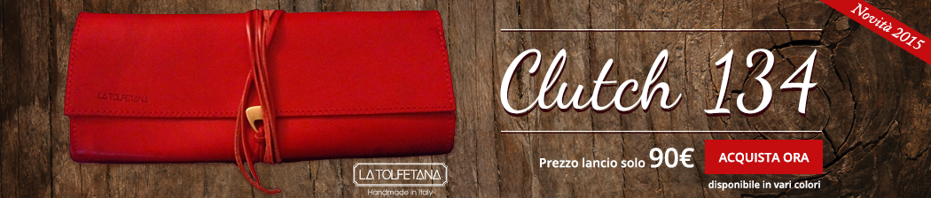 acquista ora la clutch 134 pochette in pelle